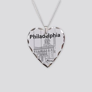 Philadephia_12x12_LibertyBell Necklace Heart Charm