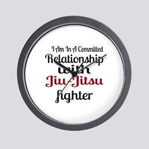 Relationship With Jiu-Jitsu Fighter Wall Clock