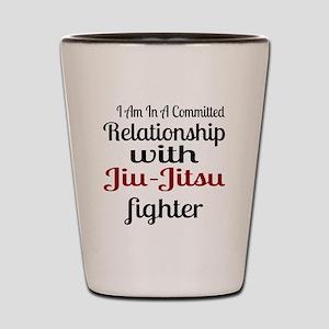 Relationship With Jiu-Jitsu Fighter Shot Glass