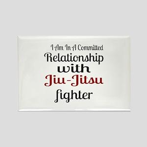 Relationship With Jiu-Jitsu Fight Rectangle Magnet