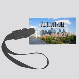 Philadephia_Rect_Skyline Large Luggage Tag
