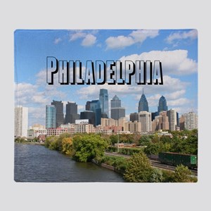 Philadephia_Rect_Skyline Throw Blanket