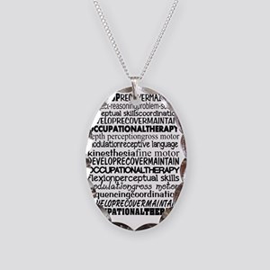 OT month Bw Necklace Oval Charm