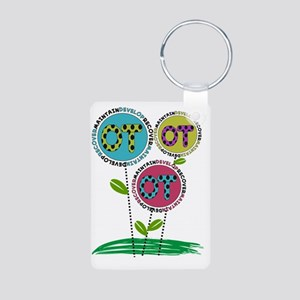 OT FLOWERS FINISHED 1 Aluminum Photo Keychain