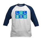 Lil Bro (Blue/Green) Kids Baseball Jersey