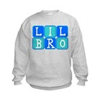 Lil Bro (Blue/Green) Kids Sweatshirt