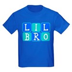 Lil Bro (Blue/Green) Kids Dark T-Shirt