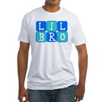 Lil Bro (Blue/Green) Fitted T-Shirt