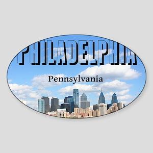Philadelphia_10X8_puzzle_mousepad_P Sticker (Oval)