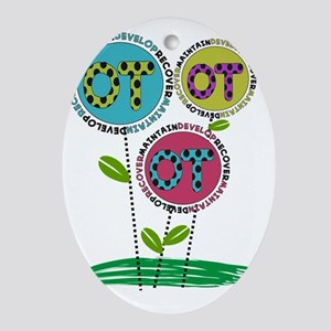 OT FLOWERS FINISHED 1 Oval Ornament