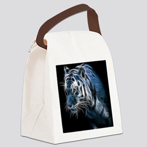 Night Tiger Canvas Lunch Bag