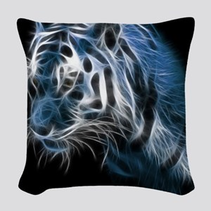 Night Tiger Woven Throw Pillow