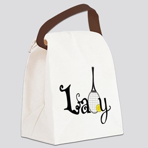 Lady Tennis Canvas Lunch Bag