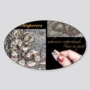 Copperhead Whisperers Sticker (Oval)