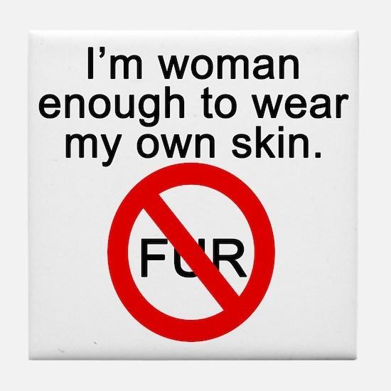 No to Fur Tile Coaster
