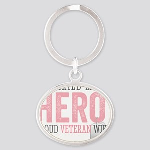 I Married my Hero Oval Keychain