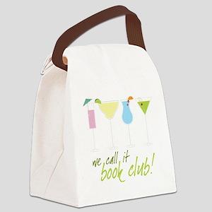 Book Club Canvas Lunch Bag