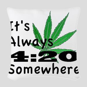420 Woven Throw Pillow