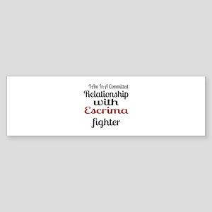 Relationship With Escrima Fighter Sticker (Bumper)