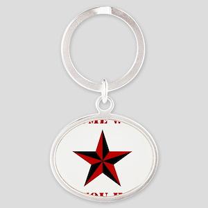 Chrome Wont Get You Home - Red Nauti Oval Keychain