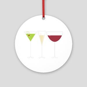 Drink Trio Round Ornament