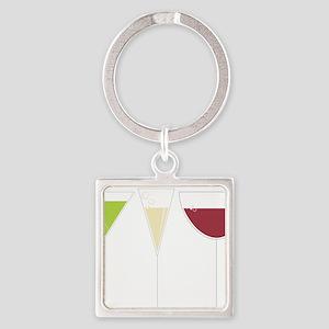Drink Trio Square Keychain