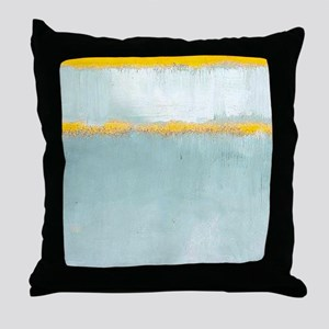 ROTHKO YELLOW BORDER Throw Pillow