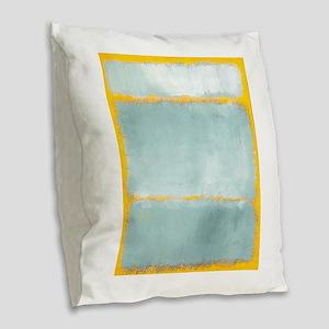 ROTHKO YELLOW BORDER Burlap Throw Pillow