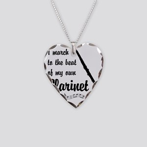 March to the Beat: Clarinet Necklace Heart Charm