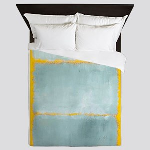 ROTHKO YELLOW BORDER Queen Duvet