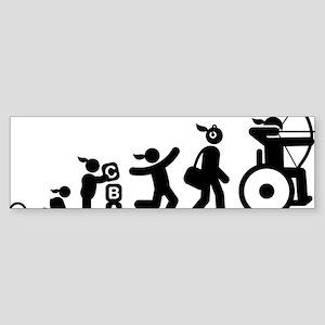 Wheelchair-Archery-AAI1 Sticker (Bumper)