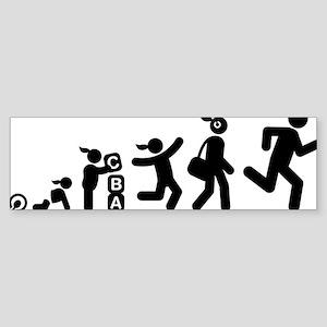 Jogging-AAI1 Sticker (Bumper)