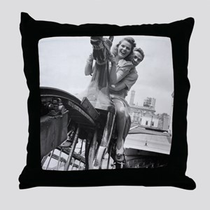 Coney Island Steeplechase Ride 182406 Throw Pillow