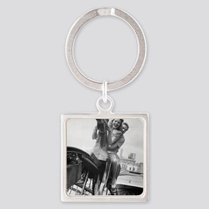 Coney Island Steeplechase Ride 182 Square Keychain