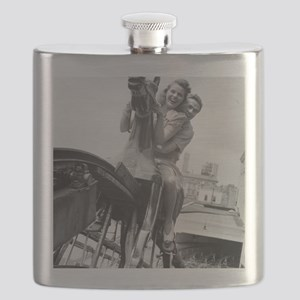 Coney Island Steeplechase Ride 1824064 Flask