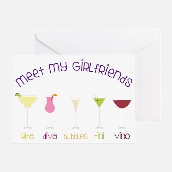 My Girlfriends Greeting Card