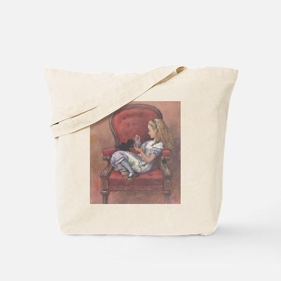 """Wonderland"" Quote on BACK - Tote Bag"