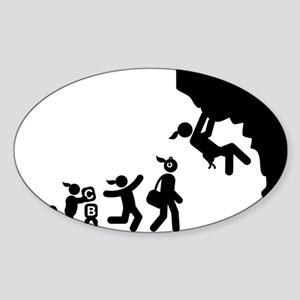 Rock-Climbing-AAI1 Sticker (Oval)