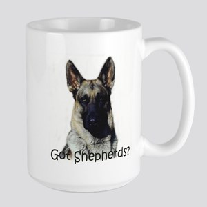 German Shepherd dog lovers Large Mug