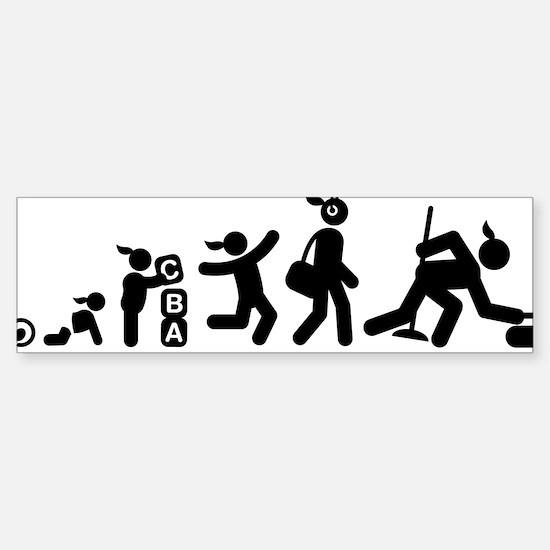 Curling-AAI1 Sticker (Bumper)