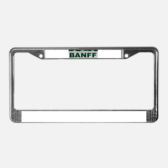 Banff, Canada License Plate Frame