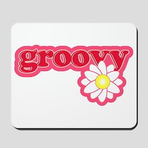 Groovy Flower Daisy Mousepad