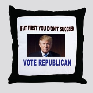 TRUMP WINS Throw Pillow