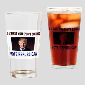 TRUMP WINS Drinking Glass