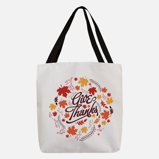 Give Thanks Polyester Tote Bag