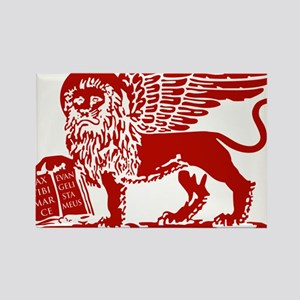 LionRed Rectangle Magnet