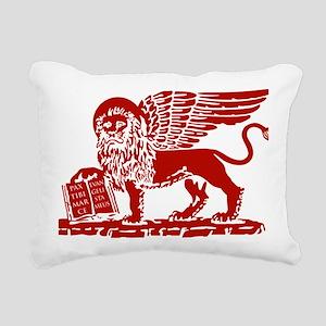 LionRed Rectangular Canvas Pillow