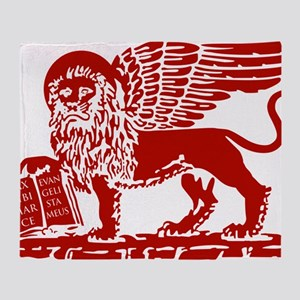 LionRed Throw Blanket