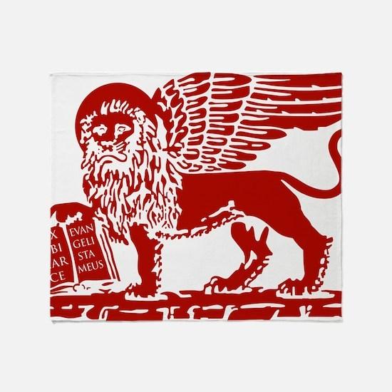 LionRed Throw Blanket