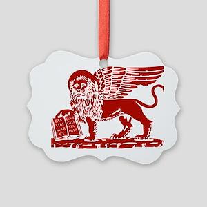 LionRed Picture Ornament